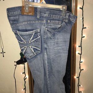 Pants - Light blue boot cut jeans